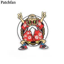 <b>Patchfan Dragon ball</b> Kame Sennin Applique diy accessorries iron ...