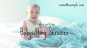 Babysitting Ads Lots Of Customizable Babysitter Ad Video Templates