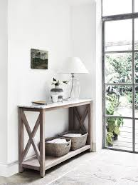 herston console table by neptune shaftesbury table lamp and ashcroft baskets