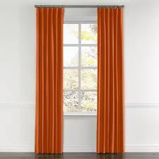 burnt orange linen curtain ring top loom decor