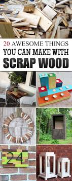20 Awesome Things You Can Make With Scrap Wood   Awesome things ...