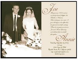 50th Wedding Anniversary Invitations Beautiful Cards Ideas
