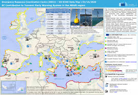 Working of tws network of seismic monitoring station at. Ec Contribution To Tsunami Early Warning System In The Neam Region Dg Echo Daily Map 02 10 2020 World Reliefweb