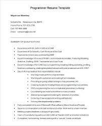 Entry Level Programmer Resume Free Programmer Resume Word Format