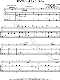 Various other works of the time imitate this turkish style, including mozart's. Wolfgang Amadeus Mozart Rondo Alla Turca Sheet Music In A Major Download Print Sku Mn0034130