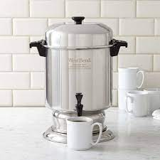 4.5 out of 5 stars 21. West Bend 55 Cup Stainless Steel Coffee Maker Williams Sonoma