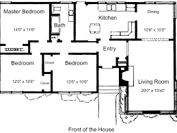 Small 3 Bedroom House Plans Plan For A Three Bedroom House Shoisecom