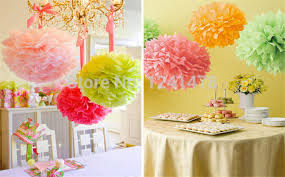 Hanging Paper Flower Balls 24 Colors Available Hanging Paper Flowers Rose Balls Garlands Party Decorations 12 Inch 30cm 45piece Lot Light Pink Pompoms In Artificial Dried
