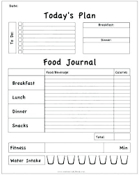 simple food log template daily food log template emmaplays co