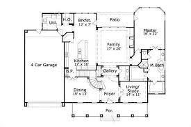 First Floor Garage Home Plans  Home PlanFour Car Garage House Plans
