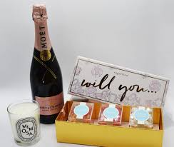from moët chandon this sweet gift set is surely going to make all of your gals yelp yes when you ask them to stand by your side on your special day