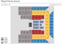 Royal Farms Seating Chart Trevor Noah Royal Farms Arena