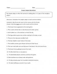 Excel. subject worksheets: Subject And Predicate Worksheets ...