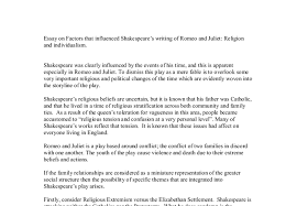 essay on factors that influenced shakespeare s writing of romeo  document image preview