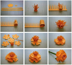 How To Make A Flower Out Of Paper Step By Step More 3d Paper Flowers Flowers Paper Pinterest Paper Flowers