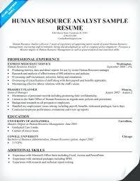 Human Resources Generalist Resume Resource Resu On Hr Generalist