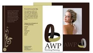 Tri Fold Brochure Template For Wedding Planner Order Custom Tri