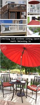 simple covered outdoor living spaces. Exellent Outdoor Outdoor Living Space Transformation By The DIY VIllage Intended Simple Covered Spaces V