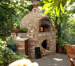 Beehive (round) Brick oven in Greensboro NC   Brick faced wood fired oven by