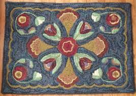 rug hooking pattern tulip cross 28 x 40 a primitive design by