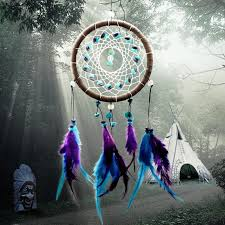 Dream Catcher Online Shopping India New Fashion Wind Chimes Indian Style Feather Pendant Dream Catcher 2