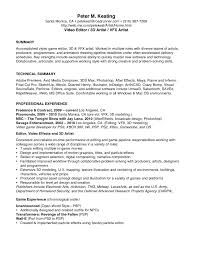 Video Editor Resume Format Template Download Sample Cover Letter