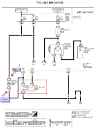 nissan altima the blower stopped working even on high that is because the fan control amp grounds the blower motor you most likely going to need the fan control amp here is part of the wiring diagram so you