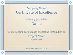 Microsoft Office Award Certificate Template Download Certificate Of Employee Excellence Template For Powerpoint