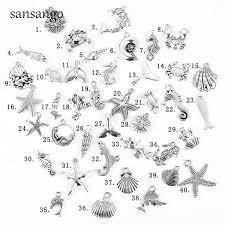 40pcs <b>Tibetan</b> Silver Simulated <b>Mixed</b> Sea Seahorse Shell ...