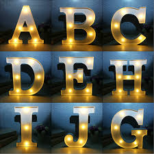 12inch Marquee Letter Lights Led Vintage Circus Style A M Alphabet