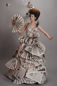 17 best ideas about paper fashion paper dresses recycled fashion beautiful newspaper fashion