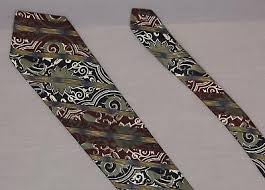 Damask Tie Structure Us Made Damask Stripe Silk Necktie Vintage Tie