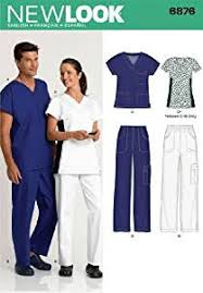 Scrub Patterns Unique Amazon New Look Sewing Pattern 48 MissMen Scrubs Size A