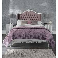 Silver Shabby Chic Bedroom Furniture Silver Antique French Style Bed Shabby Chic Bedroom