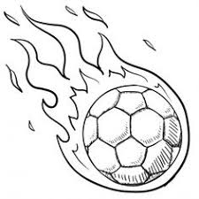 Small Picture Soccer coloring pages ball in fire ColoringStar