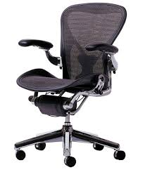 miller office chair. Herman Miller Aeron Chair With Polished Aluminum Base Graphite Frame, Grey Black Tuxedo Weave Seat And Back, Adjustable Arms, Leather Arms Pads, Office S