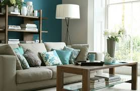 wall paint with brown furniture. Brown Fabric Sectional L Sofa Living Room Paint Colors With Furniture Light Grey Granite Coffee Table Green Wall Color Wooden Tv Bench O