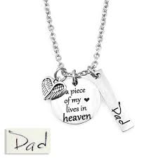 handwriting jewelry necklaces piece of my heart memorial handwriting necklace