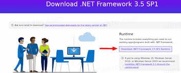 install net framework 3 5 in windows 10