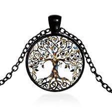 glass pendant tree australia 4 colors vintage tree of life pendant necklaces diy alloy glass