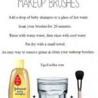 how to clean makeup brushes with baby shampoo. how to clean your makeup brushes with baby shampoo