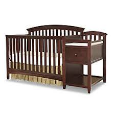 Westwood Design Montville 4-in-1 Convertible Crib and Changer Combo in Chocolate Mist Changing Table | buybuy BABY
