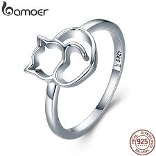 BAMOER Authentic <b>100</b>% <b>925 Sterling Silver</b> Naughty Little Cat ...