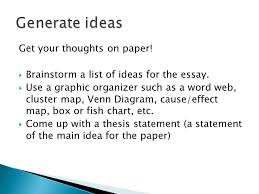 steps to writing a quality essay in other words and analyze brainstorm a list of ideas for the essay