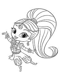 Learn how to draw and color shimmer and shine from the hit show on nick jr. Crazy Shimmer And Shine Printable Coloring Pages Mason Website