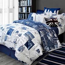 com bed lam passport blue paris london queen full duvet cover set cotton home kitchen