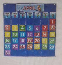 Black Classroom Calendar Pocket Chart Calendar Pocket Chart Products For Sale Ebay