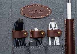 messenger bag organizer cord organization tech organization leather