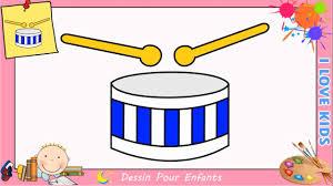 Comment Dessiner Un Tambour Facilement Etape Par Etape Pour