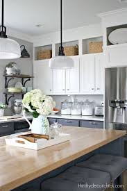34 Most First Class Gray Stained Kitchen Cabinets White Grey Floor